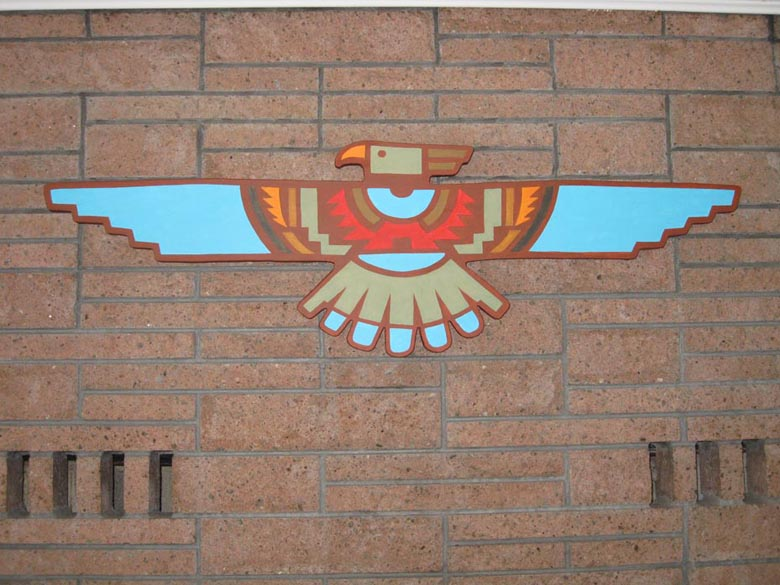 Thunderbird closeup Native American Thunderbird Designs